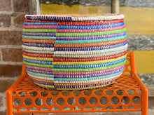 Load image into Gallery viewer, Rainbow Stripe Basket w/ Lid