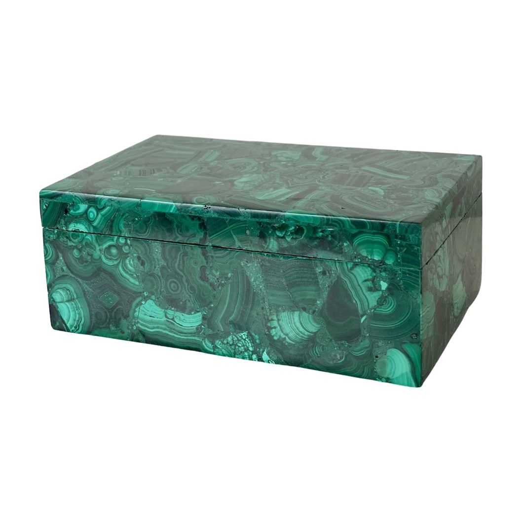 luxury malachite jewelry box