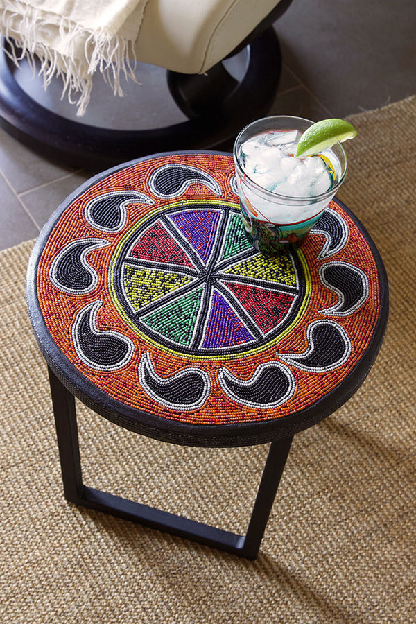 Beaded Rainbow Paisley Stand