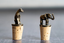 Load image into Gallery viewer, Brass Wine Bottle Stoppers| Cheetah & Elephant