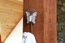 Load image into Gallery viewer, Hand Beaded Butterfly Wall Hooks