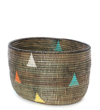 Load image into Gallery viewer, Teranga Triangles Knitting Basket