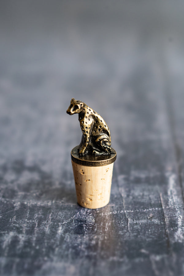 Brass Wine Bottle Stoppers| Cheetah & Elephant