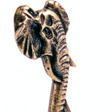 Brass bottle openers forged in the shape of elephants.  Hand crafted in South Africa.