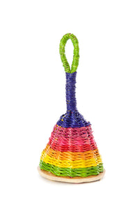 Rainbow Woven Elephant Grass Rattle- Small