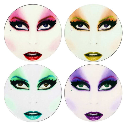 Elvira Faces Coaster Set