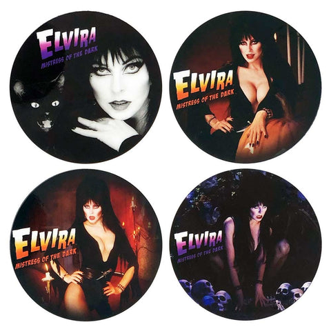 Elvira Halloween Round Coaster Set