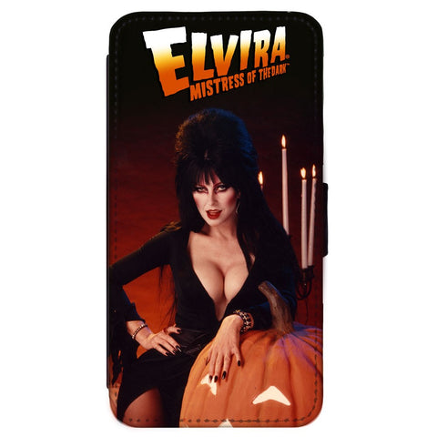 Elvira Pumpkin Samsung Flip Wallet Phone Case