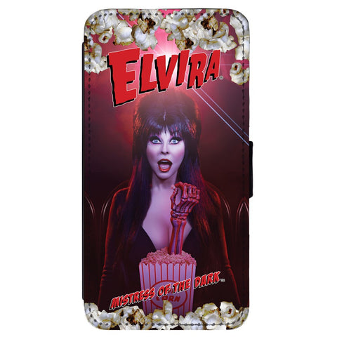 Elvira Pop Popcorn Samsung Flip Wallet Phone Case