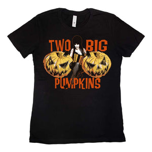 Elvira Two Big Pumpkins Womens Tee