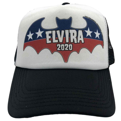 Elvira President Bat 2020 White Trucker Hat