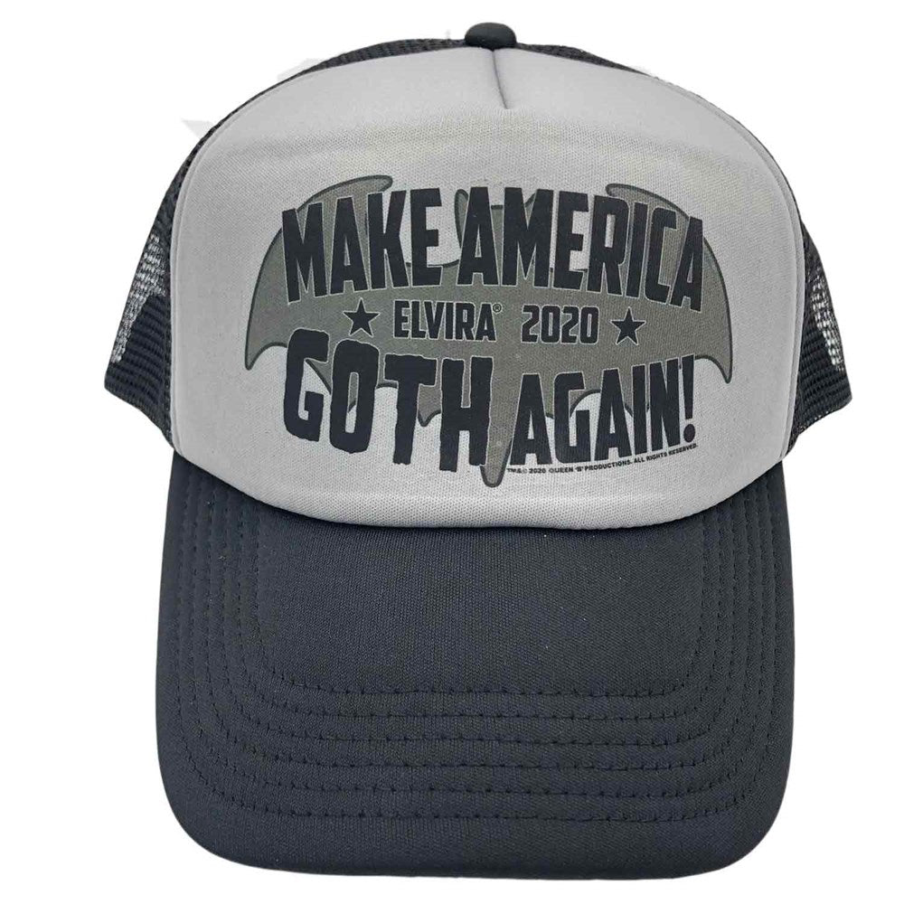 Elvira President Goth Again Trucker Hat