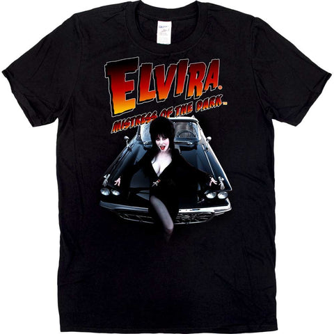 Elvira Macabre Mobile Flame Mens Tshirt
