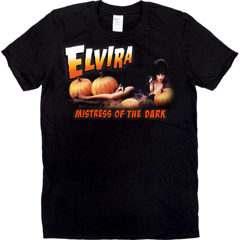 Elvira Pumpkin Patch Mens Tshirt