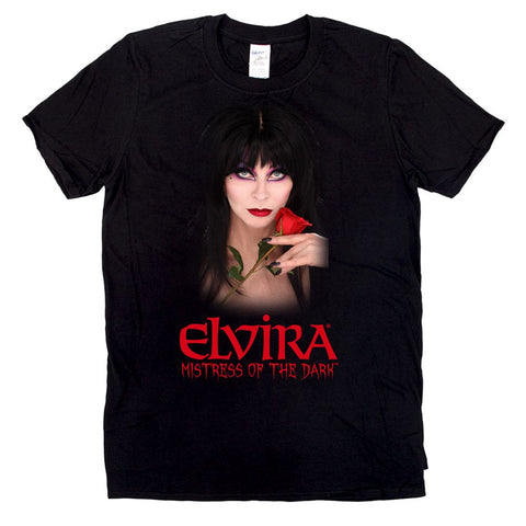 Elvira Red Rose Mens Tshirt
