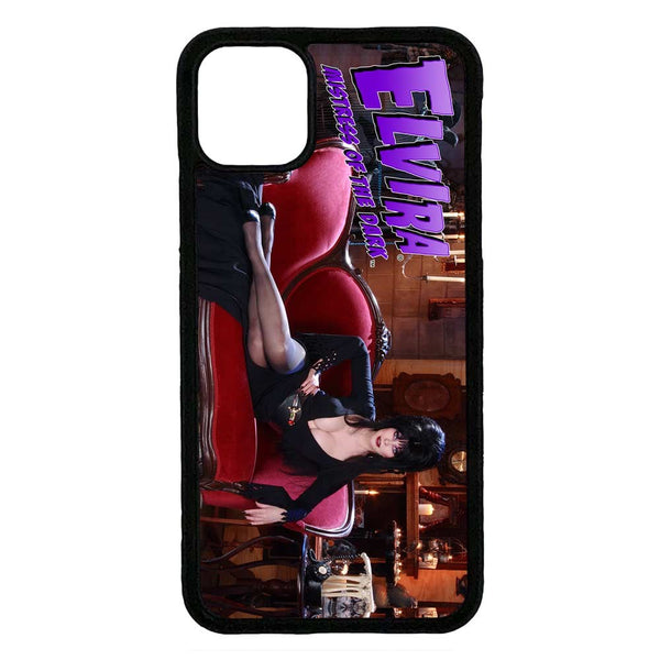Elvira Couch Iphone Black Rubber Case