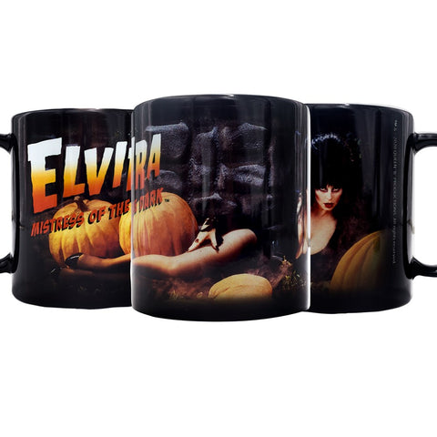 Elvira Pumpkin Patch Mug