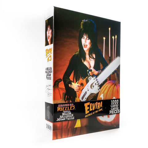 Elvira Chainsaw Jigsaw Puzzle