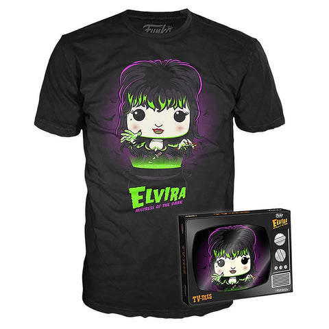 Elvira Funko Pop Mistress Of The Dark TV Box T-shirt