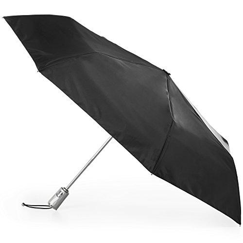 Totes Automatic Open Close Water-Resistant Travel Folding Umbrella with Sun Protection