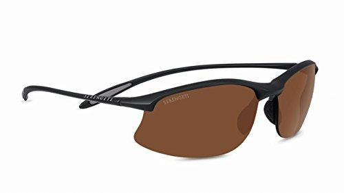 Serengeti Maestrale Polar Sunglasses,Satin Black with Drivers Lenses