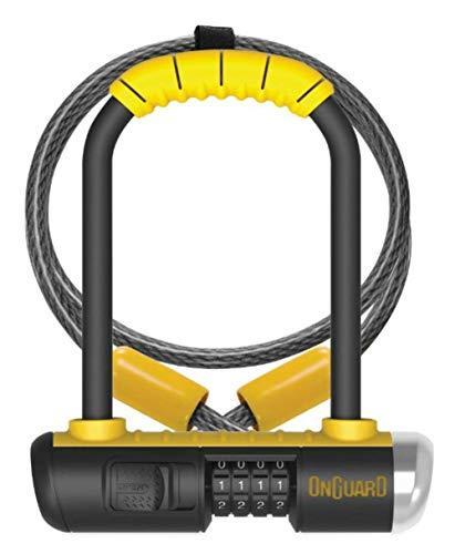 Onguard Bulldog Mini Combo Lock w/ 4' X10mm Cable - Yellow, one Size