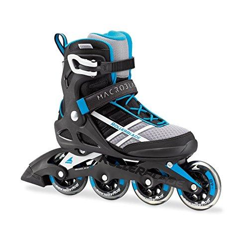 Rollerblade Macroblade 84 Women's Adult Fitness Inline Skate, White and Cyan Blue, Performance Inline Skates