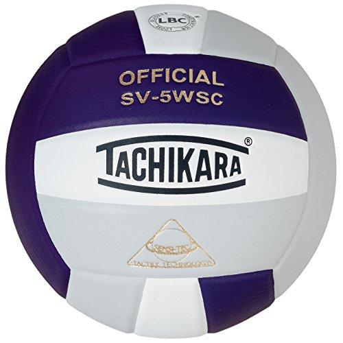 Tachikara Sensi-Tec Composite High Performance Volleyball (Purple/White/Silver Gray)