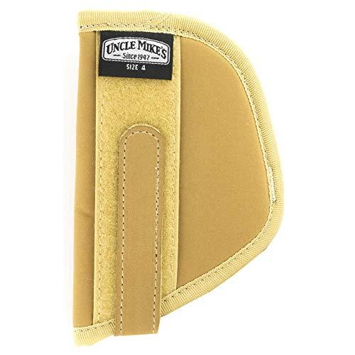 Uncle Mike's Off-Duty and Concealment Neutral Nylon Body Armour Holster (Size 4, Light Brown)