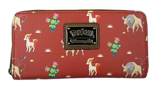 Loungefly x Pokemon Tauros Western Style Zip-Around Wallet (Multicolored, One Size)