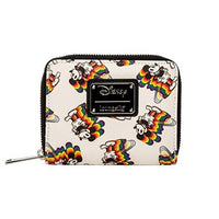 Loungefly x Disney Rainbow Mickey Mouse Small Zip-Around Wallet (Multicolored, One Size)