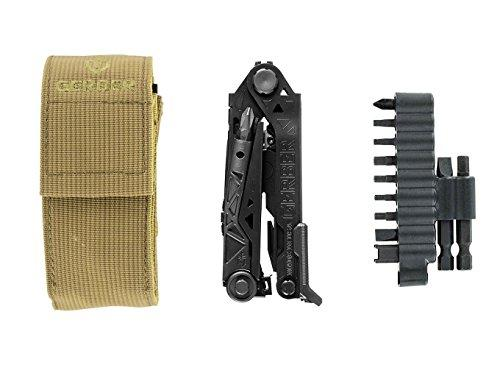 Gerber Center-Drive Black Multi-Tool | M4 Bit Set, Coyote Brown US-Made Sheath [30-001426]