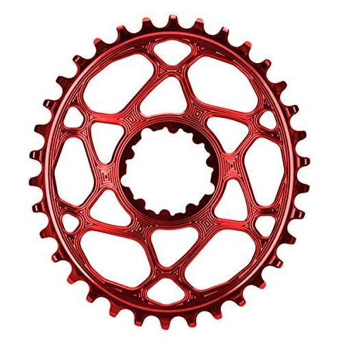 ABSOLUTE BLACK SRAM Oval Boost148 Direct Mount Traction Chainring Red/3mm Offset, 30t
