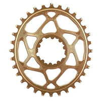 ABSOLUTE BLACK SRAM Oval Direct Mount Traction Chainring Gold/6mm Offset, 26t