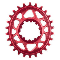 ABSOLUTE BLACK SRAM Oval Direct Mount Traction Chainring Red/6mm Offset, 30t