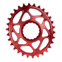 ABSOLUTE BLACK Race Face Oval Cinch Boost Direct Mount Traction Chainring Red, 30t