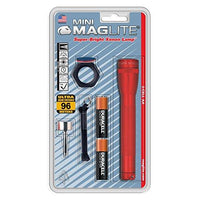 Maglite Mini Incandescent 2-Cell AA Flashlight Combo, Red