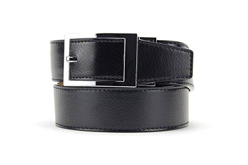 Ebony Classic Leather Dress Belt for Men with Automatic Buckle - Nexbelt Ratchet System Technology