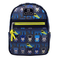 Loungefly x Batman 80th Anniversary Gotham City Chibi Mini Backpack (One Size, Multicolored)