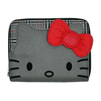 Loungefly Hello Kitty Classic Fashion Plaid Zip Around Wallet