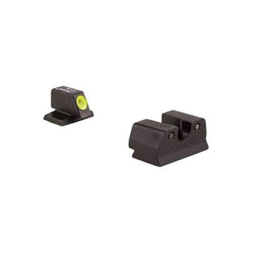 Trijicon FNH 9mm HD Night Sight Set, Yellow Front Outline