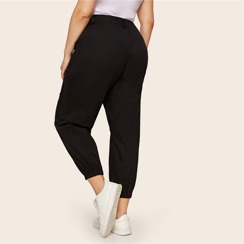Plus Size Cropped Pants Ladies Harem Pants