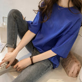 Candy Colors Short Sleeve Loose T-Shirts For Girls