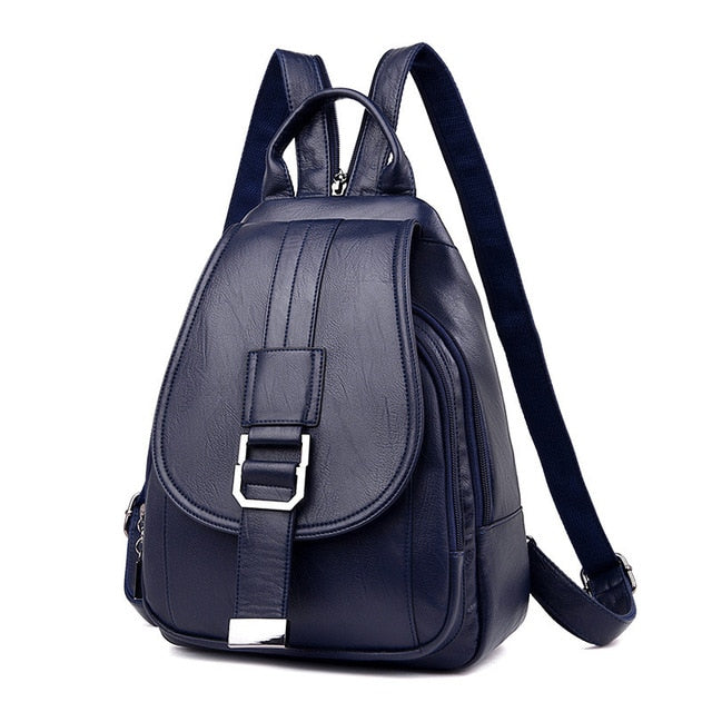 Girls Leather Vintage Backpacks For School And Travel