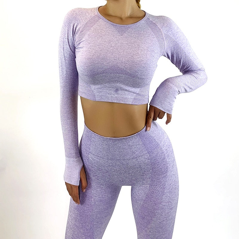 Workout And Yoga Top And Athletic Legging Women's Suit