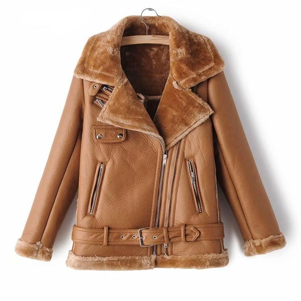 Faux Leather Casual Loose Soft Pu Motorcycle Punk Leather Jacket