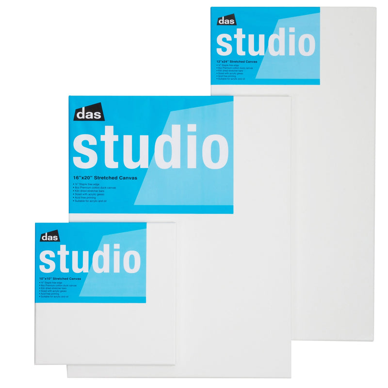 das studio 3/4 canvas - box of 20