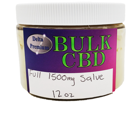 Broad Spectrum CBD 1500mg BULK Salve 12oz