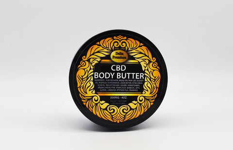Delta Premium CBD Body Butter 500mg 4oz