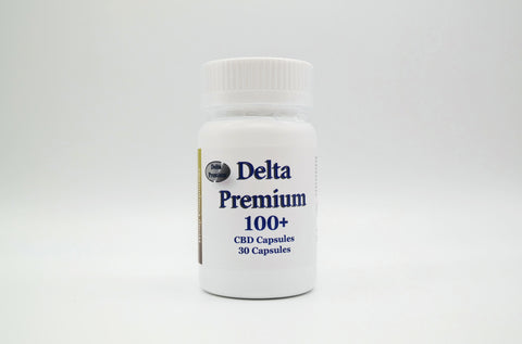 Delta Premium 100mg CBD Vegan Capsules. Hemp-Derived CBD. Made in USA.